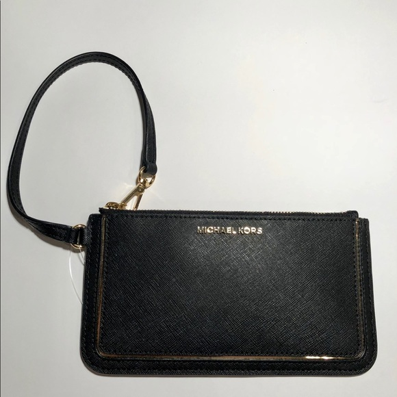 eadd3907d512 Black Michael Kors Frame Out Wristlet
